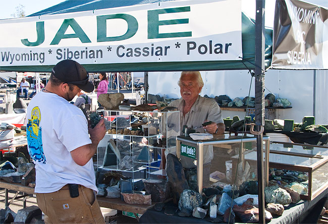 Tom Payne booth at Tucson Jade Rendezvous 2